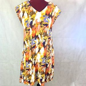 """Anthropology """"Maple by some odd rubies"""" Dress"""